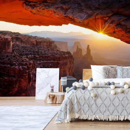 "Easy to Install wallpaper ""Red Canyon Cave"""